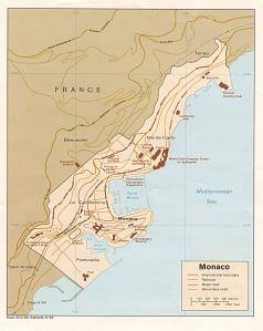 Kart over Monaco